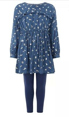 Girls Monsoon Tunic & Leggings Outfit SIZE 5yrs New With Tags rrp£34
