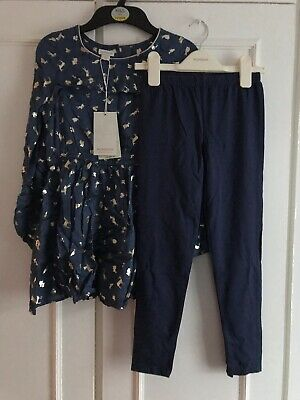 Monsoon  Girls Tunic & Leggings Outfit  SIZE 8yrs New With Tags rrp£36