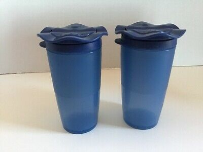 Tupperware Blue Salt And Pepper Shakers
