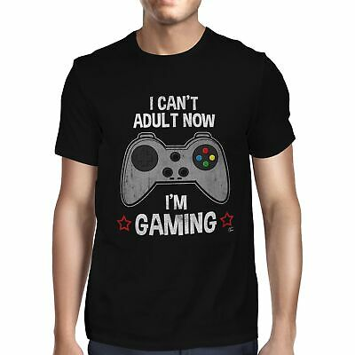 1Tee Mens I can't Adult Now, I'm Gaming T-Shirt