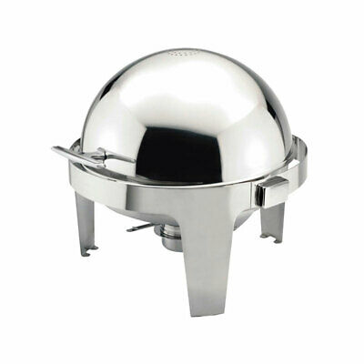 6 Ltr Round Roll Top Chafing Dish With Pan