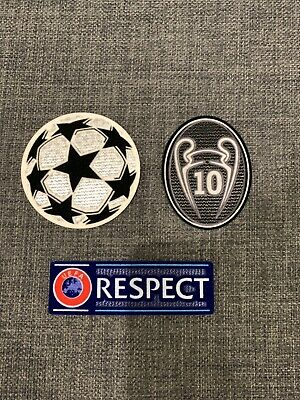 Real Madrid UEFA Champions League Starball RESPECT Sleeve Patch Patches/Badges