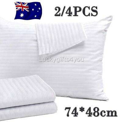 2/4PCS Pillow Cover Protector Zip Closure Standard Case PillowCover