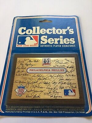 Philadelphia Phillies 1978 Collectors Plaque Factory Sealed New Old Stock