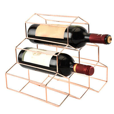 Bar Bottle Stainless Steel Wine Rack Stackable Stand Rack Display Shelf