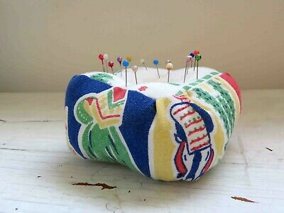 Pincushion Handmade Vintage Fabric Pin cushion Mexican Print #5