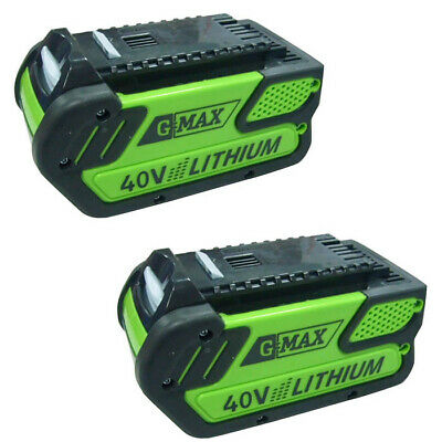 GreenWorks 2 Pack of Genuine OEM Replacement Batteries # 29472-2PK