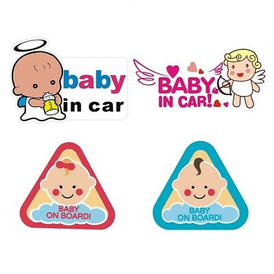 Baby In Car Safety Sign Cute Striking Reflection Warning Car Tail Sticker Syih