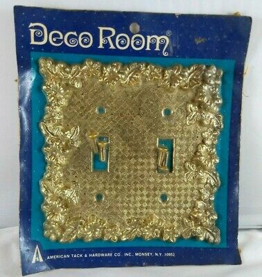 Decor Room Vintage Electrical Two Gang Switch Brass Plate For Light Switches