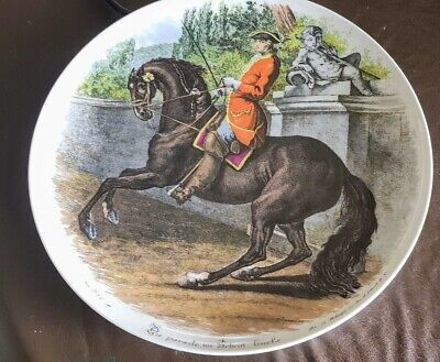 Kaiser W Germany collectible wall plate Historical Equestrian theme