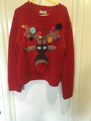Next Christmas Jumpers.Next Age 7 Christmas Jumper Girls Rudolph 6 7 Years