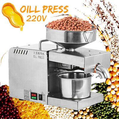 Automatic Oil Press Machine Stainless Steel Presser Cold Hot Press Oil Expeller