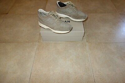 Hogan INTERACTIVE Beige Suede-Canvas Sneakers Shoes Scarpe 41,5 (7.5) MadeInITA