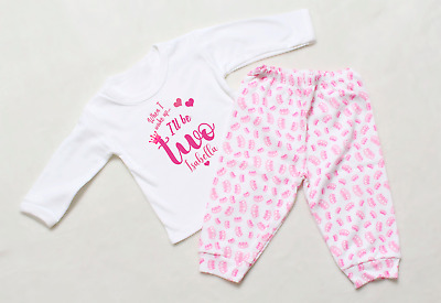 Personalised When I Wake Up Two Princess Crown Pyjamas Birthday Pjs Girls