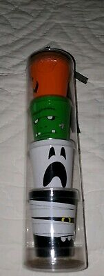Macy's Halloween Shot Glasses ~ Set of 4 - 1.5 fl oz ~Ghost Mummy Pumpki  NEW!!!