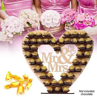 Wedding Decor Wooden Chocolate Display Stand Wedding Supplies for Banquets Anniv