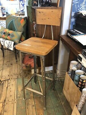 Brand New Industrial Style Mango Wood And Metal Bar Stool