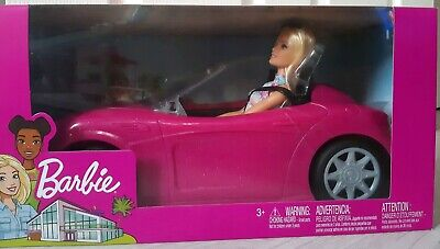 Brand New Barbie Convertible Car And Barbie Doll Set (Latest Version) NEW