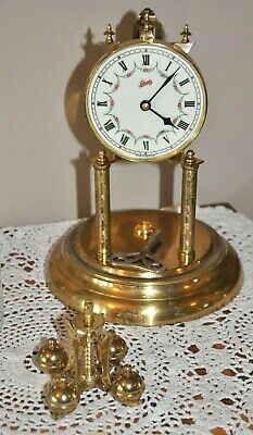 Vintage Schatz Germany Anniversary Clock, Dome and Key for Parts or Repair