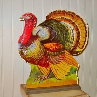 Vintage Style Bethany Lowe Turkey Dummy Board Thanksgiving Double Sided Large