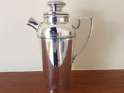 Stunning Antique English Large Silver Plated Art Deco Cocktail Shaker Barware