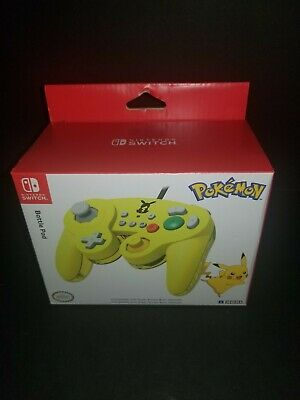 Hori Nintendo Switch Pokemon Battle Pad Pikachu GameCube Style Controller Yellow