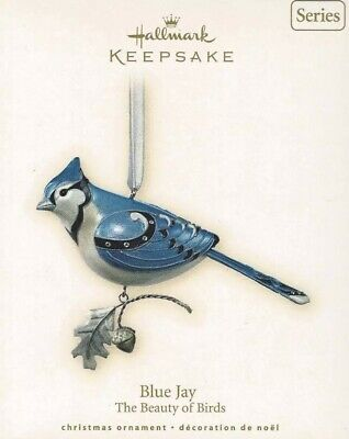 Hallmark Blue Jay Ornament The Beauty of Birds 2007 NEW