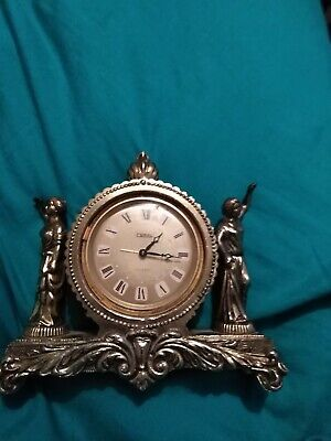 Coral Japanese Antique  Clock For Spares Or Repair.
