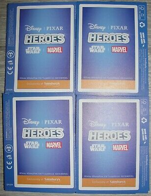 16 Packs Of Disney Heroes Collectable Cards Unopened Sainsburys Marvel Pixar