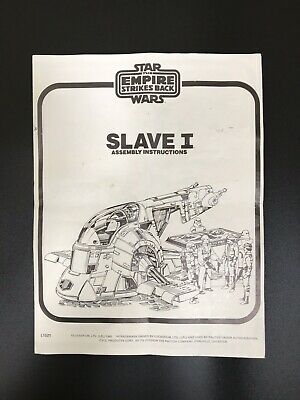 Vintage Star Wars Slave 1 Instructions ESB Palitoy 1981