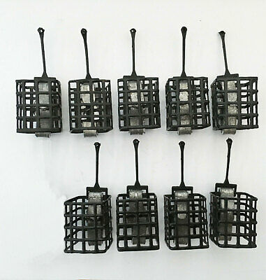 5 x 20g ngt rond métal cage appâtage feeders for carp coarse barbillon pêche