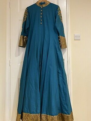 Teal Anarkali Long Dress!