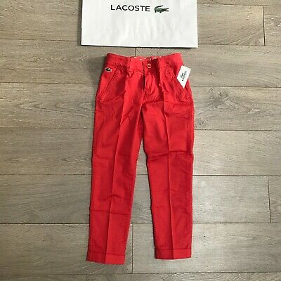 Lacoste Girls Trousers Chino 8Y BNWT