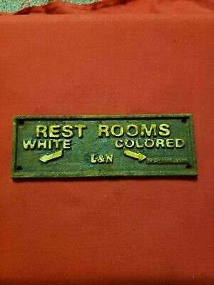 black americana cast iron sign display vintage