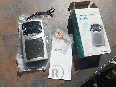 New Old Stock Vintage Boxed AM, FM, TV Audio, Airports, Transistor Radio Issue