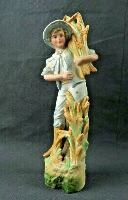 Antique German or Austrian Bisque Porcelain Farm Boy figurine