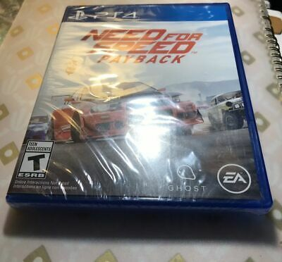BRAND NEW AND FACTORY SEALED! Need for Speed Payback (Sony PlayStation 4, 2017)