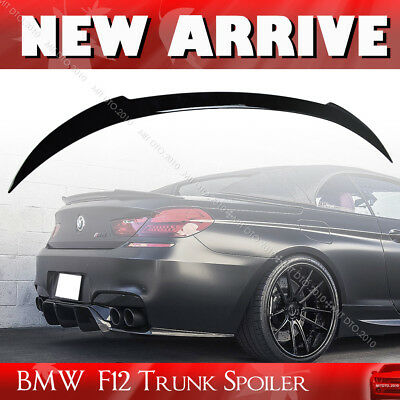 Jet Black #668 Paint 6-Series For BMW F12 Convertible V Type Trunk Spoiler 650i