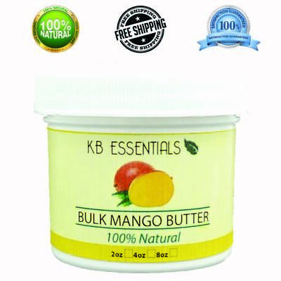 Organic Mango Butter Bulk 4oz 100% Natural Pure Body and Skin