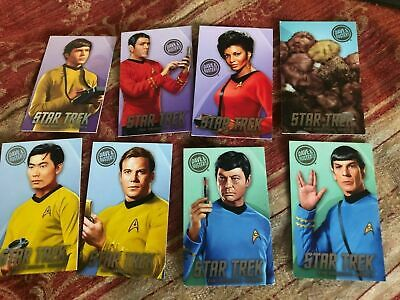 Dave and Buster's Star Trek TOS Full Set Including Rare Tribbles Card complete 8