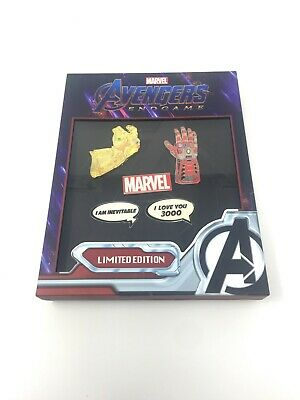 NYCC 2019 Comic Con Loungefly Limited Edition Marvel Iron Man End Game Pin Set