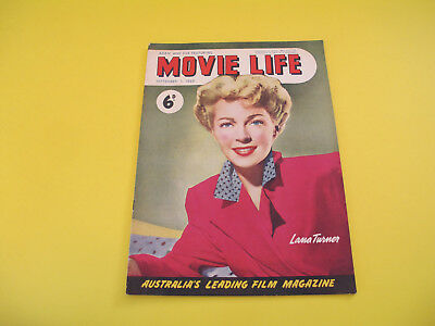 Lana Turner on Front Cover 1949 Movie Life Magazine Ronald Reagan