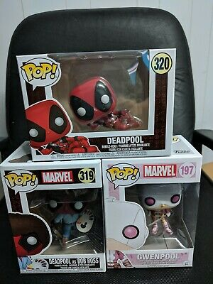 Funko Pop! Marvel Deadpool and Gwenpool Lot of 3