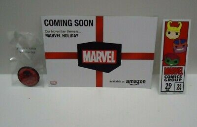 Funko Pop Marvel Collector Corps 80th Anniversary Hydra Pin Decal and Postcard