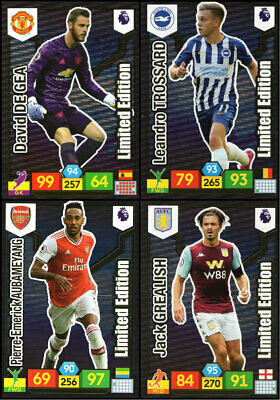 Panini Adrenalyn Xl Premier League 2019/20 4 Different Limited Edition Cards