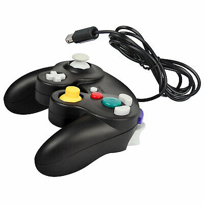 BLACK WIRED CLASSIC CONTROLLER JOYPAD GAMEPAD FOR NINTENDO GAMECUBE GC & Wii