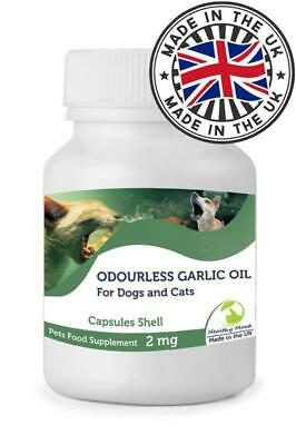 Odourless Garlic Oil 2mg for Dogs and Cats Pets Capsules Nutrition