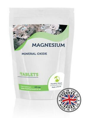MAGNESIUM Mineral Oxide 375Mg Tablets Healthy Mood