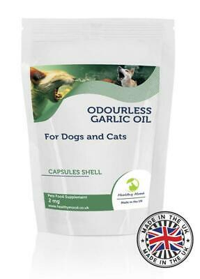 Odourless Garlic Oil 2mg for Dogs Cats Pets 90 Capsules Healthy Mood