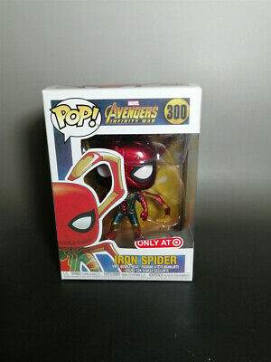 Funko Pop Iron Spider Man Avengers Infinity War #300 Marvel Comics Vinyl Figure